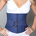 Unique Faux Leather Strapless Front Zipper Closure Corsets Shapewear