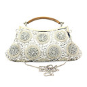 Charming Satin with Beadings and Sequins Evening Handbag/Clutches(More Colors)