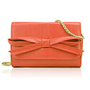 Fashion PU with Bowknot Casual Shoulder Handbag(More Colors)