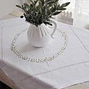 Classic Cotton White Floral Table Cloths
