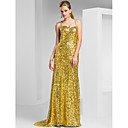 Sheath/Column Sweetheart Sweep/Brush Train Sequined Evening Dress