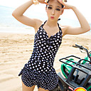 Women's Fashion Dots One-piece Padded Underwire Swimwear