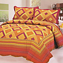 3PCS Bright Cotton Queen Size Quilt Set