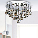 100W Modern Artistic Ceiling Light with 5 Lights and Crystal Bead Pendants