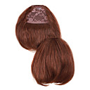 "100% Indian Remy Hair 6 ""Natural Straight Clip In Bangs Hair Extensions 26 kleuren om uit te kiezen"