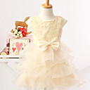 Lovely Princess Sleeveless Satin/Tulle Wedding/Evening Flower Girl Dress