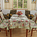 Country Print Floral Polyester Cotton Blend Multi-color Table Cloths