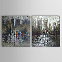 Hand Painted Oil Painting Abstract Set of 2 1303-AB0391