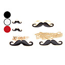 Moustache Necklace Earring Ring and Bracelet Jewelry Set