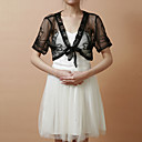 Short Sleeve Tulle Evening/Casual Wrap/Jacket(More Colors)