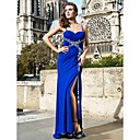 Trumpet/Mermaid Sweetheart Spaghetti Straps Sweep/Brush Train Chiffon Evening Dresses