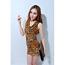 Women's Cowl Neck Leopard Print Bodycon Dress