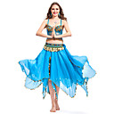 Dancewear Chiffon With Coins/Beading Performance Belly Top/Belt/Skirt For Ladies More Colors