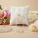Beautiful Wedding Ring Pillow With Delicate Flower