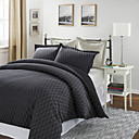 3PCS Jebel Verificação Jacquard Twin / Queen / King Duvet Cover Defina