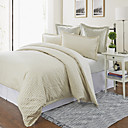 3PCS Ancud Check Jacquard Twin/Queen/King Duvet Cover Set