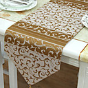 Classic Polyester Cotton Blend Piece Dye Jacquard Floral Table Runners