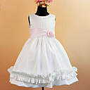 Beautiful A-line Sleeveless Satin/Tulle Wedding/Evening Flower Girl Dress