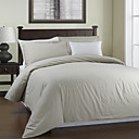 3PCS Beige Garment Wash Linen Duvet Cover Set