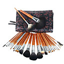 28PCS Mink Hair Professional Makeup Brush Set with Beautiful Design Bag