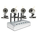 Built-in USB Based Network DVR with 4 Wireless Nightvision Cameras