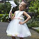 Beautiful Sleeveless Satin/Tulle Wedding/Evening Flower Girl Dress