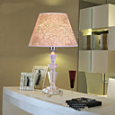 40W Artistic Table Light with Crystal Lamp Body and Beige Scratch Style Fabric Shade