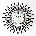"20"" Modern Crystal Metal Wall Clock"