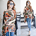 Women's Chiffon Plus Size Colorful Print Blouse