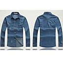 Men 's Jean Jacket Coat Denim Plus-size Elastic Jean Jacket Outwear