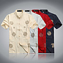 Estilo chino Hombres de manga corta T-shirt