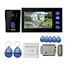 7&quot; Touch Panel Video Door Phone System with Electronic Controlling Lock + RFID keyfobs