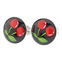 10 mm Cherry Symbol Stainless Steel Stud Earrings