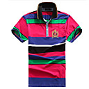 Men's Hot Summer-seizoen Contrast Color Shirt Kraag T-shirt
