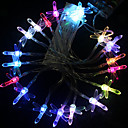 2,5 millones de Siete Colores Liblula Lmpara LED String con 20 LEDs - Decoracin de Navidad y Halloween (batera Uso)