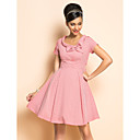 TS VINTAGE Rockabilly Girl Check Short Sleeve Dress