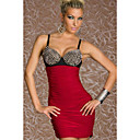 Women's Red Fashion Rivet Halter Dress
