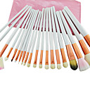20Pcs Professional Cosmetic Brush With Free Pink Leather Case
