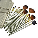 16PCS High Quality Professional Yellowgreen Cosmetic Brush Set