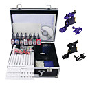 2 Rotary Guns(6colors Random) Tattoo Kit with Mini Power and 7Pcs Ink + Case