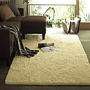 7.5 'Beige acrylique solide Bonded Rug