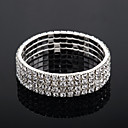  quatre couches bracelet dames de tennis en strass alliage d'argent