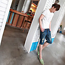Men's Broken Hole Denim Short Pants