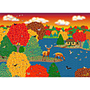 Printed Art Cartoon Animal Deer Lake by Mark Frost