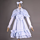 Cap manches mi-longueur Bleu Pays Coton Lolita Outfit