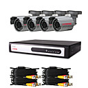 CCTV DVR kit met 4 stuks 420TVL 1/4 &quot;Sony CCD IR-camera's (4 kanaals D1-opname)
