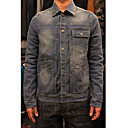 Men 's Euramerican Style Vintage Men Denim Jean Jacket Outwear