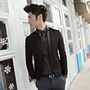 Men's Splice Causal Leather Clothes