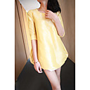 Women's Length Sleeve Taffeta A-Line Dress
