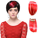 High Quality Synthetic Red Straight Hair Bangs